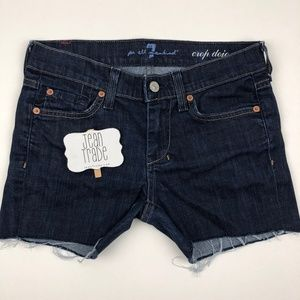7 for all mandkind dojo jean shorts
